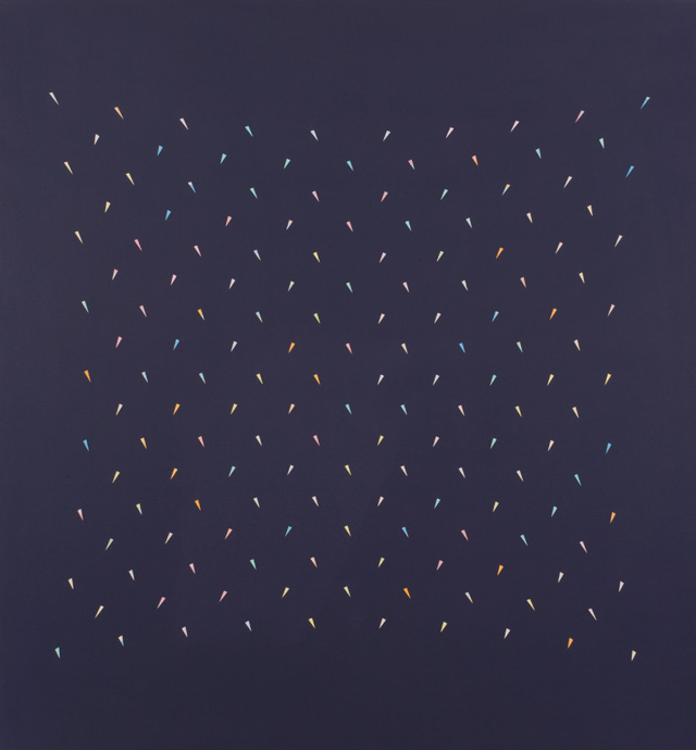 Tess Jaray. Flight, Dark, 2008. 72.5 x 67 cm. Photo: Sam Roberts. © the artist.