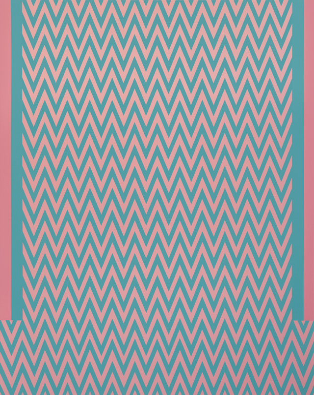 Tess Jaray. Revue. 2018. 142 x 178 cm. Photo: Sam Roberts. © the artist.