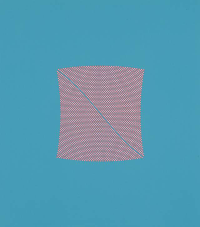 Tess Jaray. River Blue & Pink, 2009. 58.5 x 52 cm. Photo: Sam Roberts. © the artist.