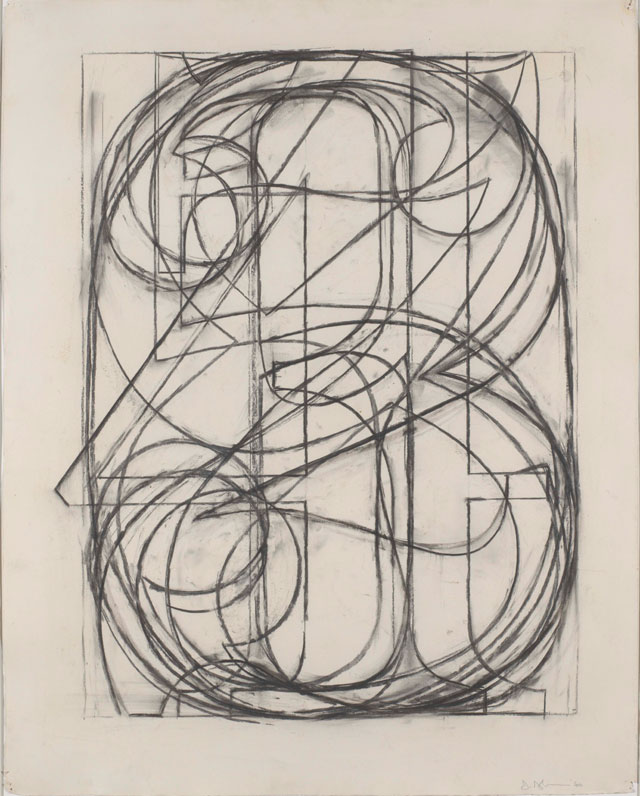 Jasper Johns. 0 Through 9, 1960. Charcoal on paper, 73 x 58cm. Collection of the artist © Jasper Johns / VAGA, New York / DACS, London 2017. Photograph: Jamie Stukenberg / Professional Graphics Inc., Rockford, IL.