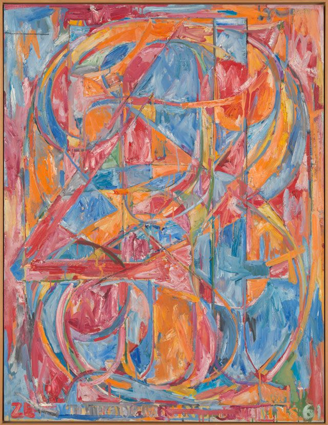 Jasper Johns. 0 through 9, 1961. Oil on canvas, 137.2 x 104.8 cm. Tate, London 2016. © Jasper Johns / VAGA, New York / DACS, London 2016.