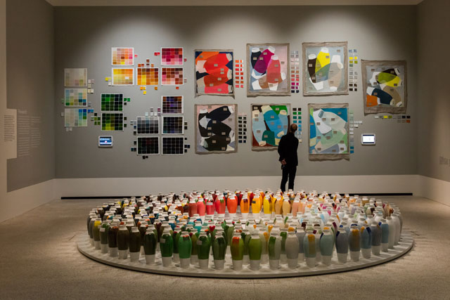 Breathing Colour by Hella Jongerius, Design Museum, London 2017. Installation view. Photograph: Luke Hayes.