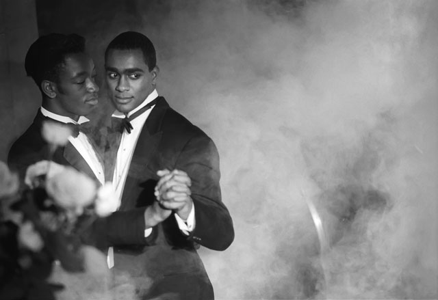 Isaac Julien. Pas de Deux No. 2 (Looking for Langston Vintage Series), 1989/2016. Kodak Premier print, Diasec mounted on aluminium, 180 x 260 cm (70 7/8 x 102 3/8 in). Courtesy the artist and Victoria Miro, London. © Isaac Julien.
