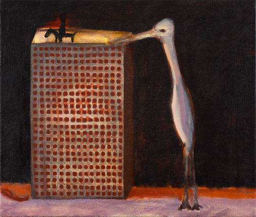 Andrzej Jackowski. <em>Vigilant Dreamer</em>, 2009. Oil on canvas, 60 x 70 cm. Courtesy Purdy Hicks Gallery.