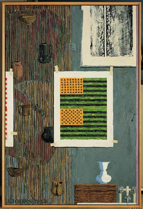 Jasper JOHNS, Ventriloquist, 1983. Encaustic on canvas 75 x 50 in. Collection 