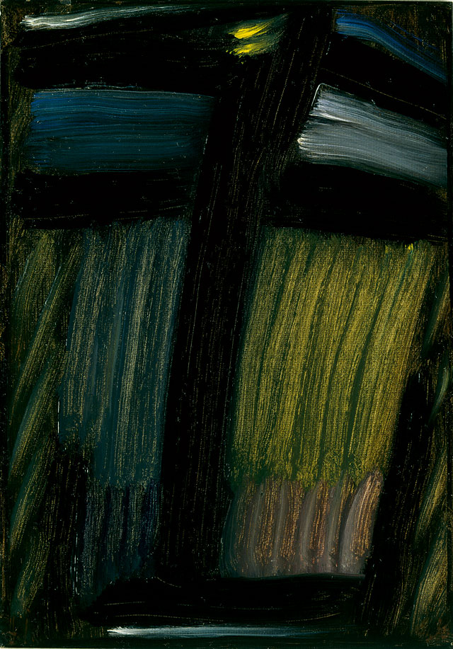 Alexei Jawlensky. Large Meditation: Night When the Wolves are Howling, January 1936. Oil on paper mounted on board. Private collection. © 2017 Artists Rights Society (ARS), New York.