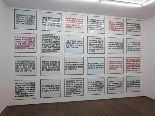 Jenny Holzer. Installation view, 2012.