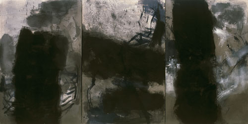 Guan Jingjing. Untitled 08-04, 2008. Ink and acrylic on canvas, 210 x 420 cm. © Guan Jingjing.