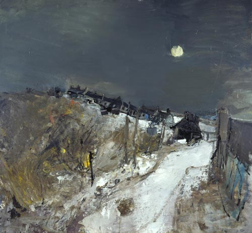 Joan Eardley. Catterline in Winter, 1963. Oil on hardboard, 120.7 x 130.8 cm. Scottish National Gallery of Modern Art © With kind permission of the Eardley Estate.