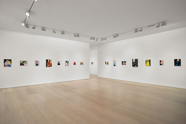 Chantal Joffe. Installation view (1), Victoria Miro Mayfair, London.