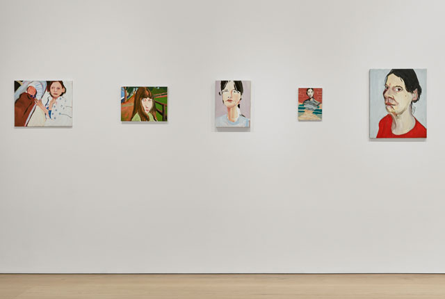 Chantal Joffe. Installation view (2), Victoria Miro Mayfair, London.