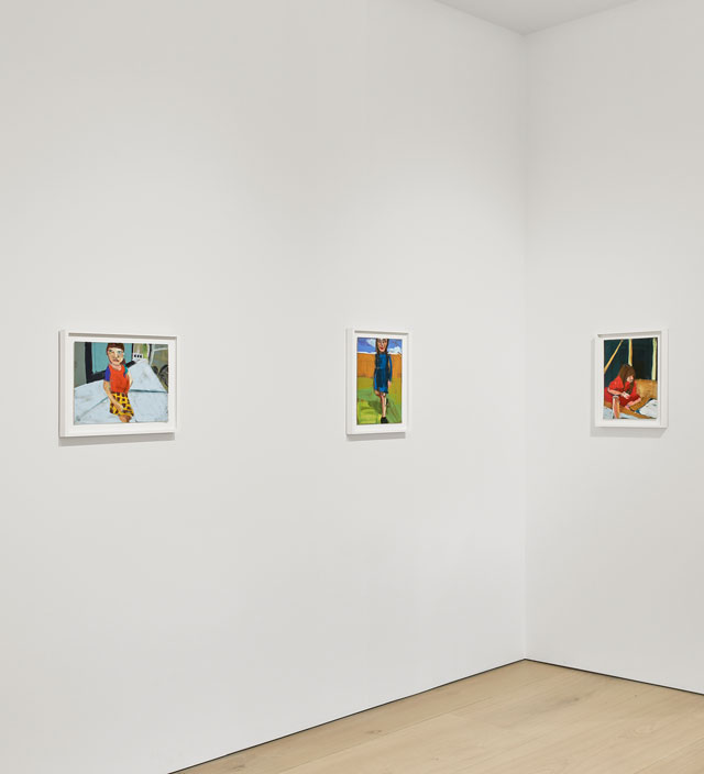 Chantal Joffe. Installation view (3), Victoria Miro Mayfair, London.
