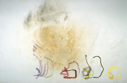 John Cage. <em>River Rocks and Smoke: 4-11-90 #1</em>. Watercolour and