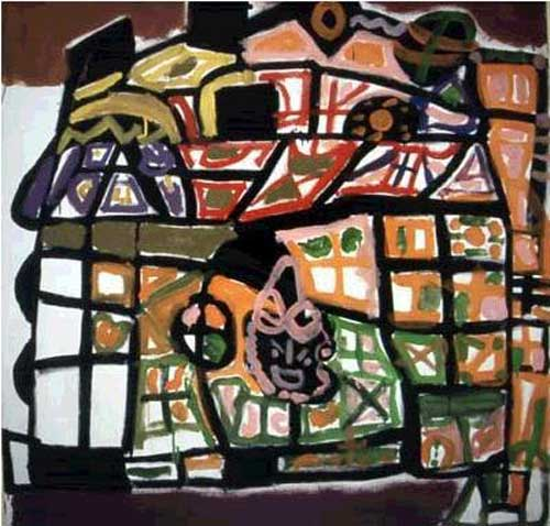 John the Painter, <i>Savoy part 1,</i> 1998, Acrylic on canvas, 160.5 