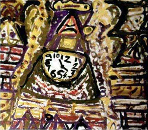 John the Painter, <i>Shandon (detail — Clock),</i> 1999, Acrylic 