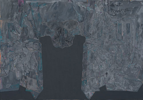 Jasper Johns, Regrets, 2013. Oil on canvas, 170.2 x 243.8 cm. The Museum of Modern Art, New York. Promised gift of Marie-Josée and Henry R. Kravis.