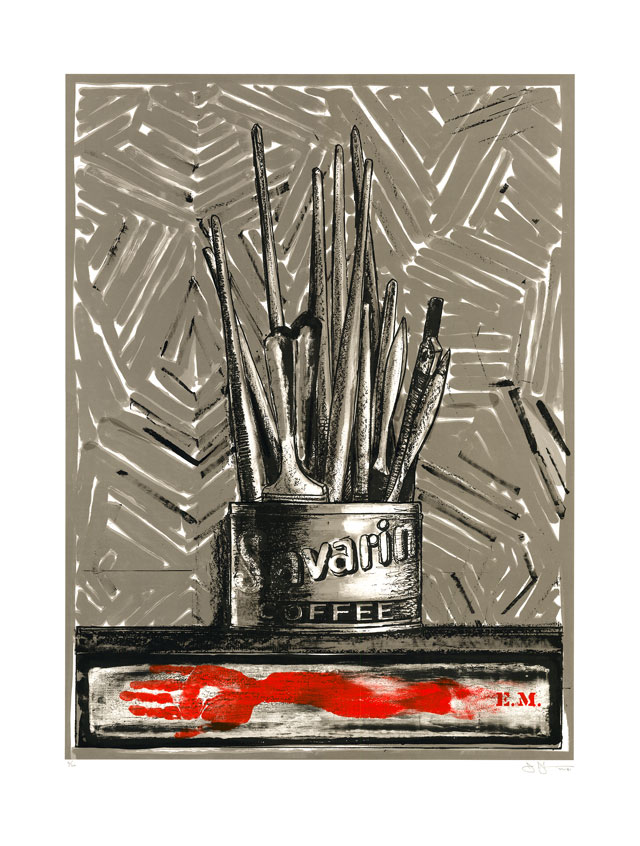 Jasper Johns. Savarin, 1981. Lithograph, 50 x 38 in (127 x 96.5 cm). Private collection.