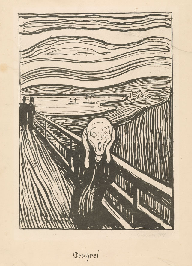 Edvard Munch. The Scream, 1895. Lithograph. Munch Museum.