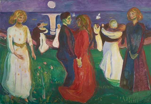 Edvard Munch. The Dance of Life, 1925. Oil on canvas, 56 1⁄4 x 81 7⁄8 in (143 x 208 cm). Munch Museum.