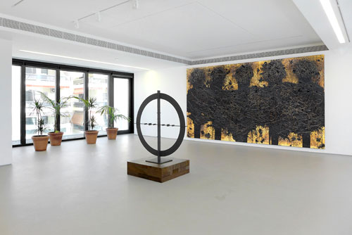 Rashid Johnson. Magic Numbers, The George Economou Collection, installation view (2). Photograph: Rebecca Constantopoulou and Fanis Vlastaras.