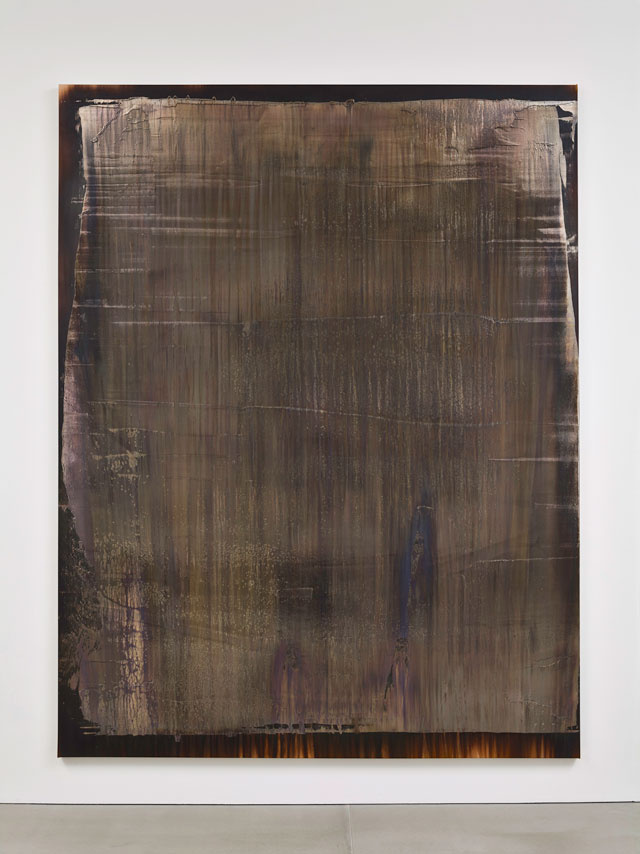 Michael Joo. Untitled (Radiohalo 1), 2016. Silver nitrate and epoxy ink on canvas, 313 x 242 cm (123¼ x 95¼ in). Courtesy the artist and Blain Southern. Photograph: Peter Mallet.
