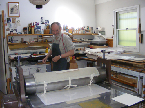 Jörg Schmeisser in his studio in Canberra, Australia, 28 October 2008.