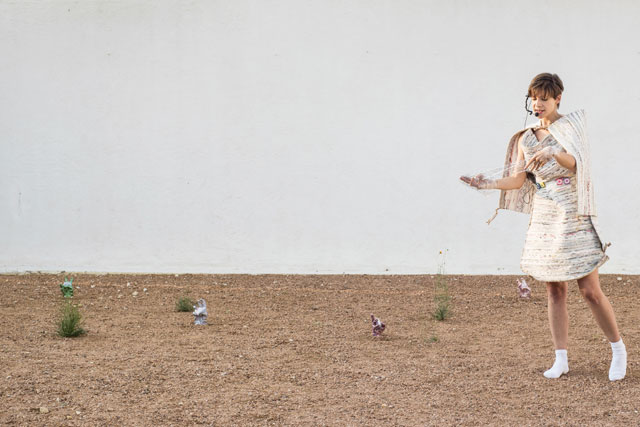 Sophie Jung. Operation Earnest Voice, 2015. Performance (as part of a mixed media installation inside Ballroom Marfa). Photograph: Ballroom Marfa, Alex Marks.