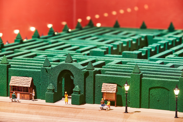Model of the maze from The Shining, 1980. Photo: Ed Reeve, courtesy of the Design Museum.