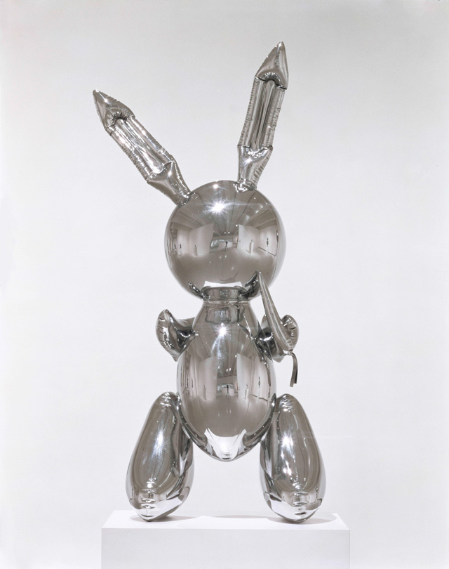 Jeff Koons. Rabbit, 1986. Stainless steel, 104.1 x 48.3 x 30.5 cm. The Eli and Edythe L. Broad Collection. © Jeff Koons.
