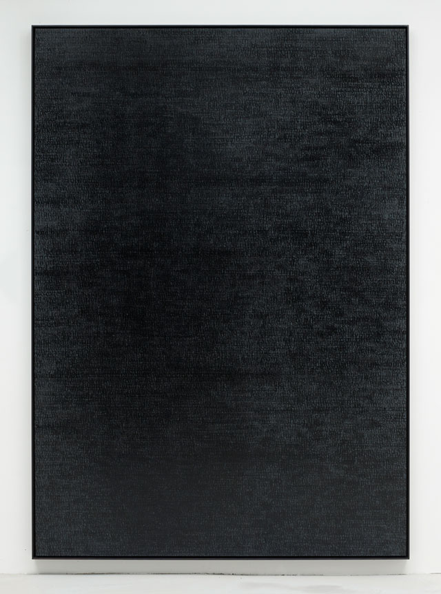 Idris Khan. The Pain of Others (No.2), 2017. Diabond panel, aluminium sub frame, acrylic, black ink, 185 x 263.5 x 3.5 cm (72 7/8 x 103 3/4 x 1 3/8 in). © Idris Khan. Courtesy the artist and Victoria Miro, London.