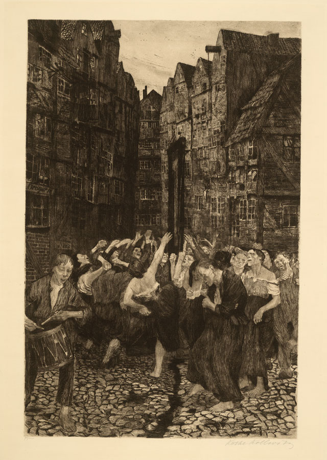 Käthe Kollwitz. Die Carmagnole, 1901. Etching and drypoint. © The Trustees of the British Museum.