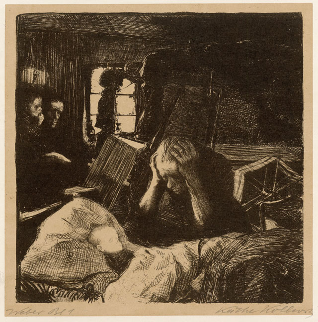 Käthe Kollwitz. Not (Want), Plate 1, 1893-7. Lithograph. © The Trustees of the British Museum.