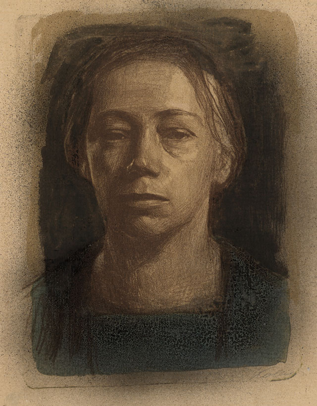 Käthe Kollwitz. Self Portrait, 1904. Lithograph. © The Trustees of the British Museum.