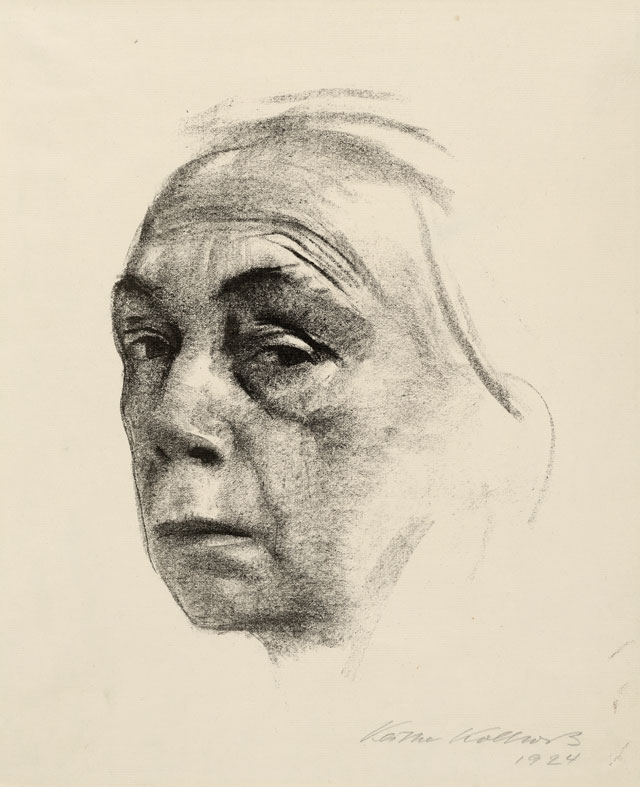 Käthe Kollwitz. Self Portrait, 1924. Lithograph. © The Trustees of the British Museum.