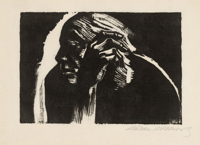 Käthe Kollwitz. Self Portrait, 1924. Woodcut. © The Trustees of the British Museum.