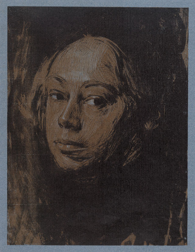 Käthe Kollwitz. Self Portrait looking left, 1901. Lithograph and Etching. © The Trustees of the British Museum.