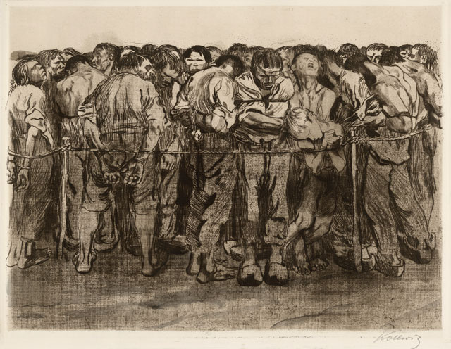 Käthe Kollwitz. Unemployment, 1909. Etching and engraving. © The Trustees of the British Museum.