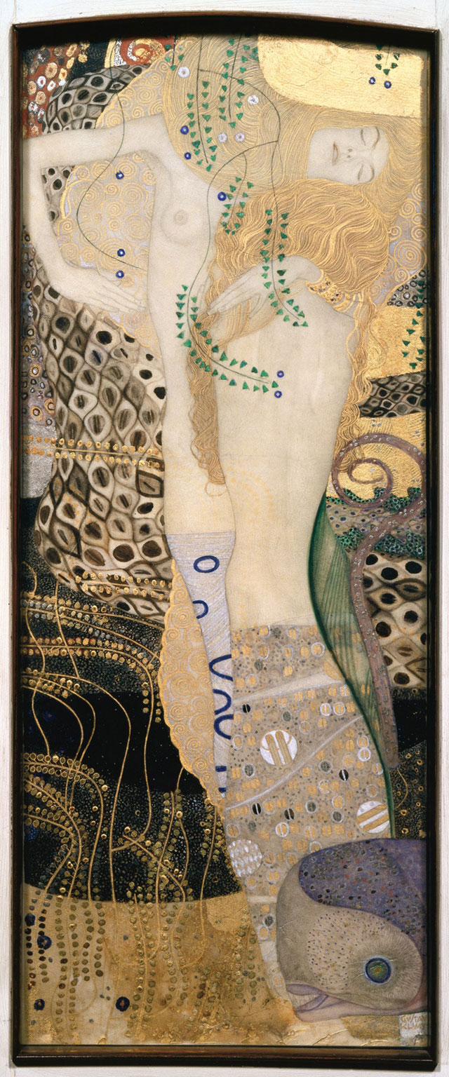 Gustav Klimt. Girlfriends (Water Serpents I), 1905/06, with last revisions in 1907. Belvedere, Vienna, © Belvedere, Vienna.