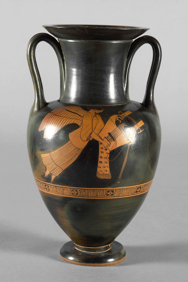 Halsamphore of the Providence-Painter, around 480 BC. Kunsthistorisches Museum, Vienna, Collection of Antiquities, © KHM-Museumsverband. Attic, red figured.