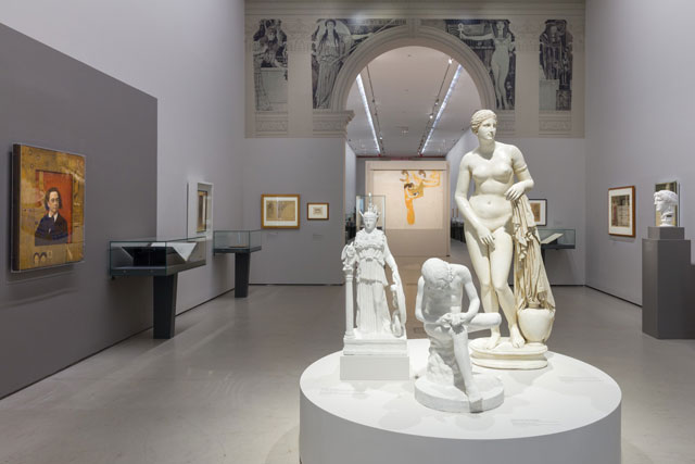 Klimt and Antiquity. Erotic Encounters. Exhibition view. Photograph: Johannes Stoll © Belvedere, Vienna.
