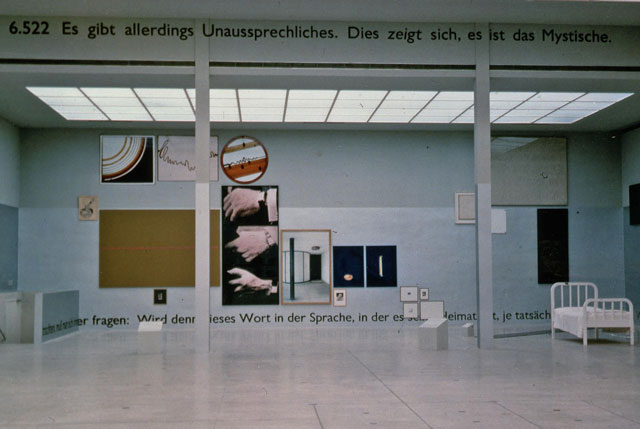 The Play of the Unsayable: Ludwig Wittgenstein and the Art of the 20th Century, Wiener. Secession, Vienna, Austria (travelled to Palais des Beaux-Arts, Brussels, Belgium), 1989.