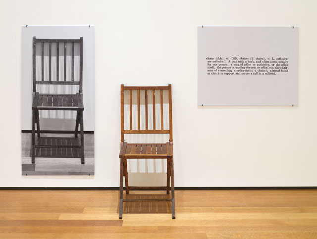 Joseph Kosuth. One and Three Chairs, 1965. Collection of The Museum of Modern Art, New York (Larry Aldrich Fund). © Joseph Kosuth - Courtesy of the Artist and Sean Kelly Gallery, 2017.