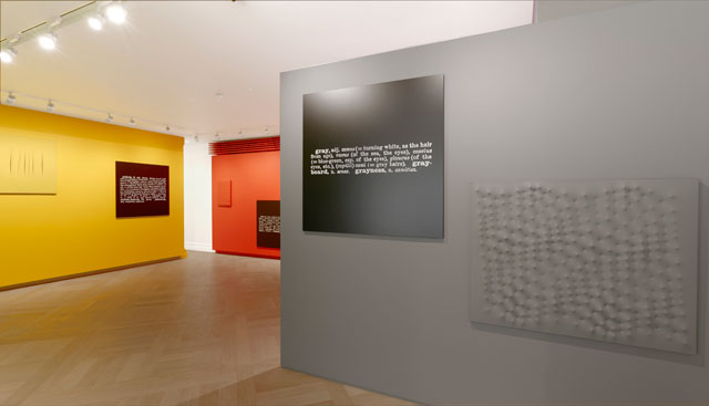 Installation view of Colour in Contextual Play at Mazzoleni. Courtesy Mazzoleni.