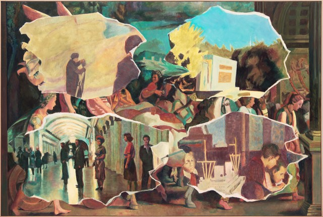 Ilya & Emilia Kabakov. Two Times Nr. 10, 2015.  Oil on canvas, 190.5 x 284.5 cm.