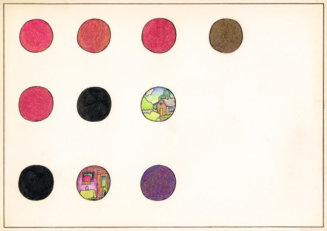 Ilya & Emilia Kabakov. Print With Dots #3, 2012. Woodcut, 47 ¾ x 68 ¼ in (121.5 x 173 cm). Edition of 12.
