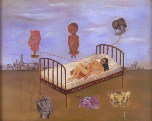 <i>Henry Ford Hospital or The Flying Bed</i>, 1932 . Oil on metal panel. 