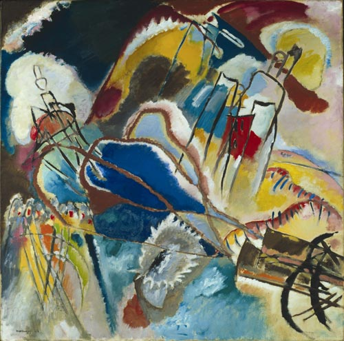 Wassily Kandinsky, <em>Improvisation 30 (Cannons),</em> 1913, The Art Institute of Chicago.