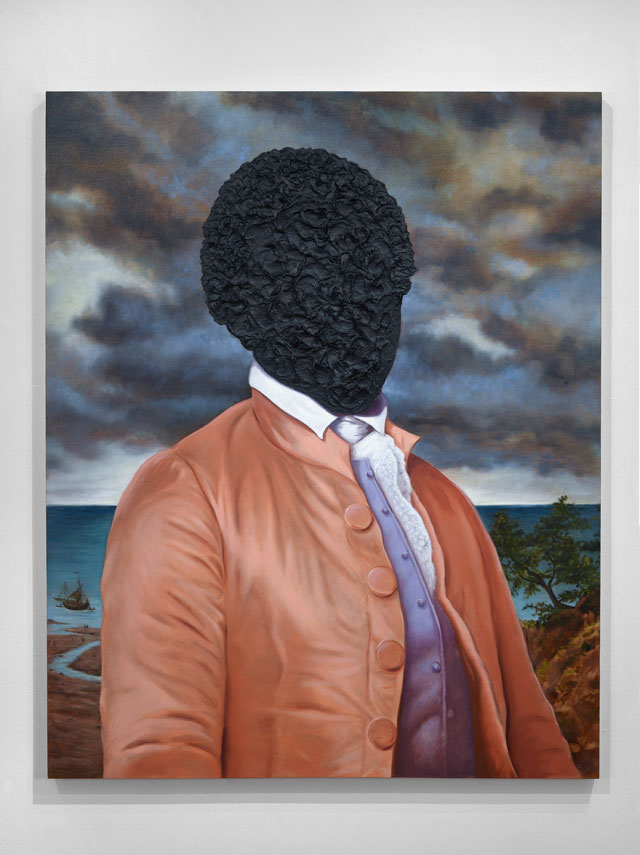 Titus Kaphar. To Be Titled, 2016. Tar and oil on canvas, 60 x 48 in. © Titus Kaphar. Courtesy of the artist and Jack Shainman Gallery.