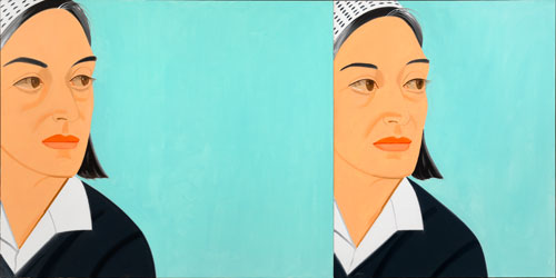Alex Katz. Ada Ada, 1991. Oil on canvas, 59 7/8 x 120 1/2 in (152 x 306 cm). © Alex Katz/Licensed by VAGA, New York, NY; Courtesy, Timothy Taylor Gallery, London.