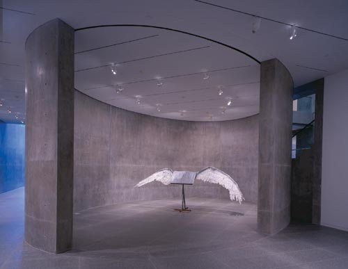 Anselm Kiefer.<em> Book with Wings</em> 1992-94. Lead, tin, and steel, 74 3/4 x 208 5/8 x 43 3/8 inches (189.9 x 529.9 x 110.2 cm).